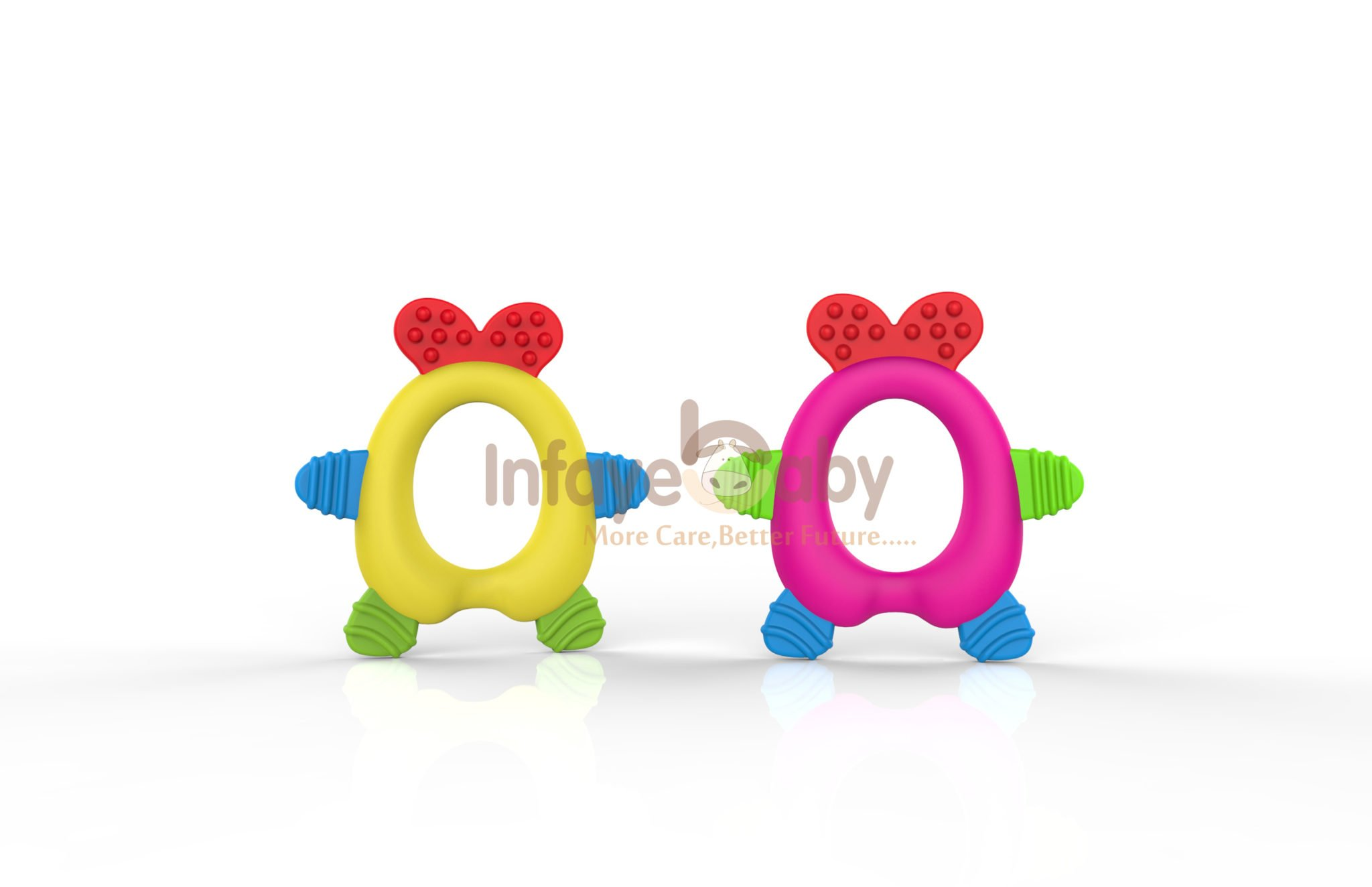 Cute Baby Teether Silicone Massager Chewing Turtle Toys Teething Rings