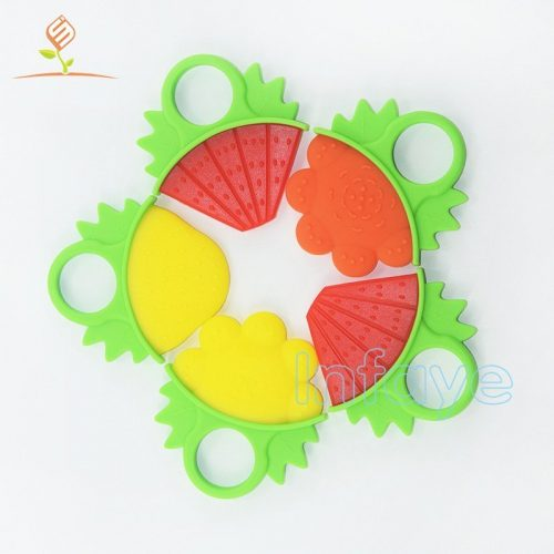 baby chew toys, flower fruit baby teethers