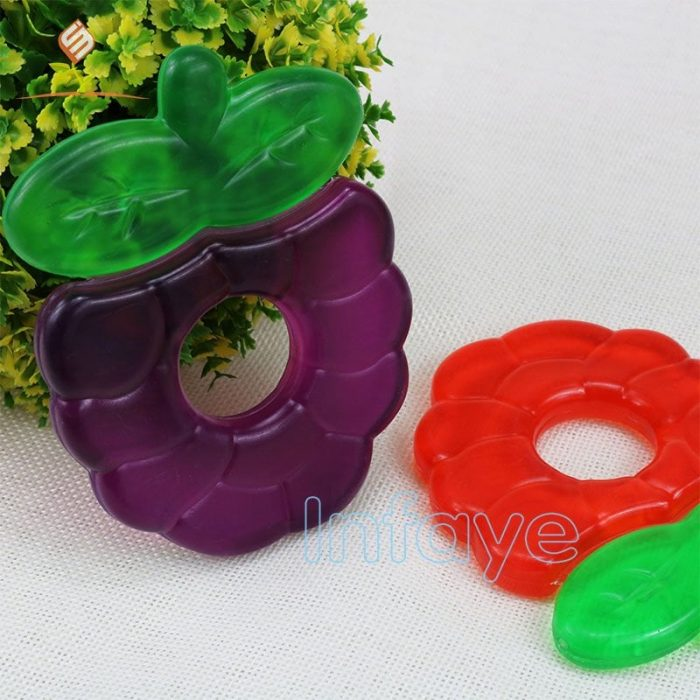 fruit teether water-filled grape teething toys for wholesale