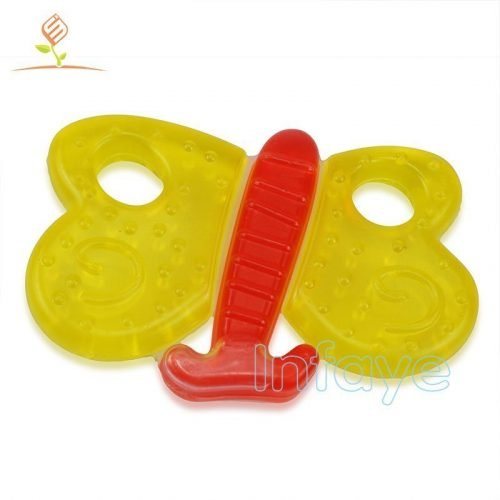 newborn teething toys, water filled teether, water-filled butterflies