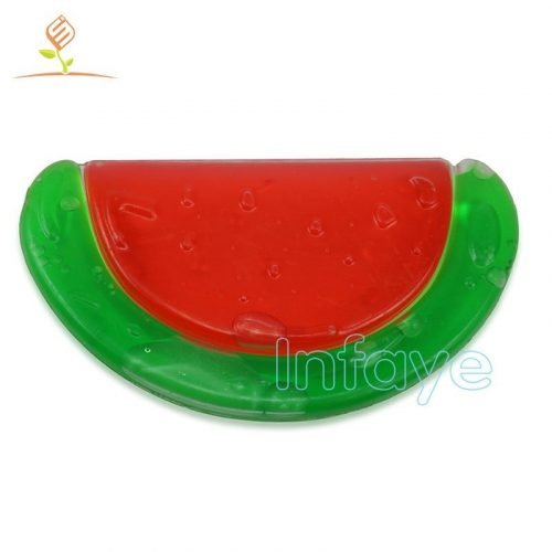 watermelon water filled razbaby teether