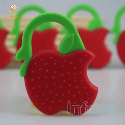 Best Baby Teething Toys Silicone Apple Fruit Teether